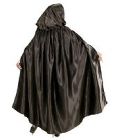 Black Satin Cape (00099)